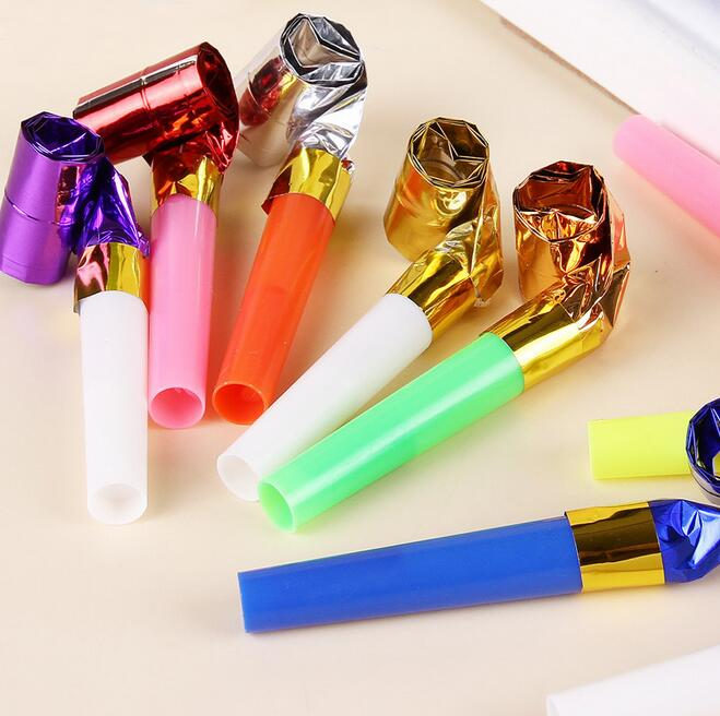 12pcs Mix color Funny Colorful Whistles Kids Childrens Birthday Party Blowing Dragon Blowout Baby Birthday Supplies Toys gifts