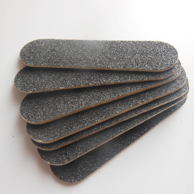 50 pcs black mini wood nail file baby nail file wooden emery board ...