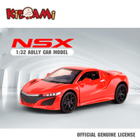 KIDAMI 1:32 Mental Diecast Honda Acura NSX Car Model Pull Back Alloy Toy Car For Kids Collection Gifts машинки oyuncak araba
