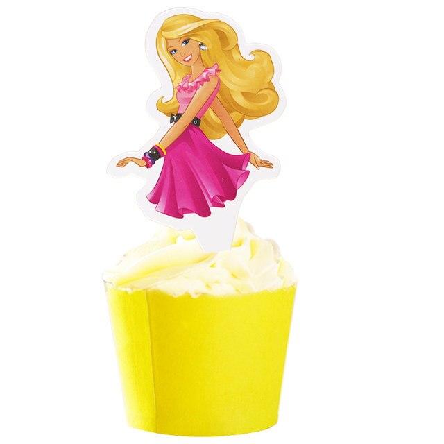 Online Shop 50pcs Pretty Barbie Girl Princess Cute Running Dog Paper ...