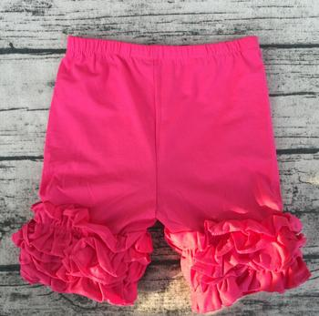 Latest Wholesale Remake Boutique Kids Icing Ruffle Shorts Gilrs Triple Ruffle Shorts Fancy Girl Ruffle Icing Shorts фото