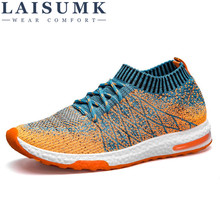 2017 LAISUMK Breathable Mesh Summer Men Casual Shoes Slip On Male Fashion Footwear Slipon Walking Unisex Couples Shoes