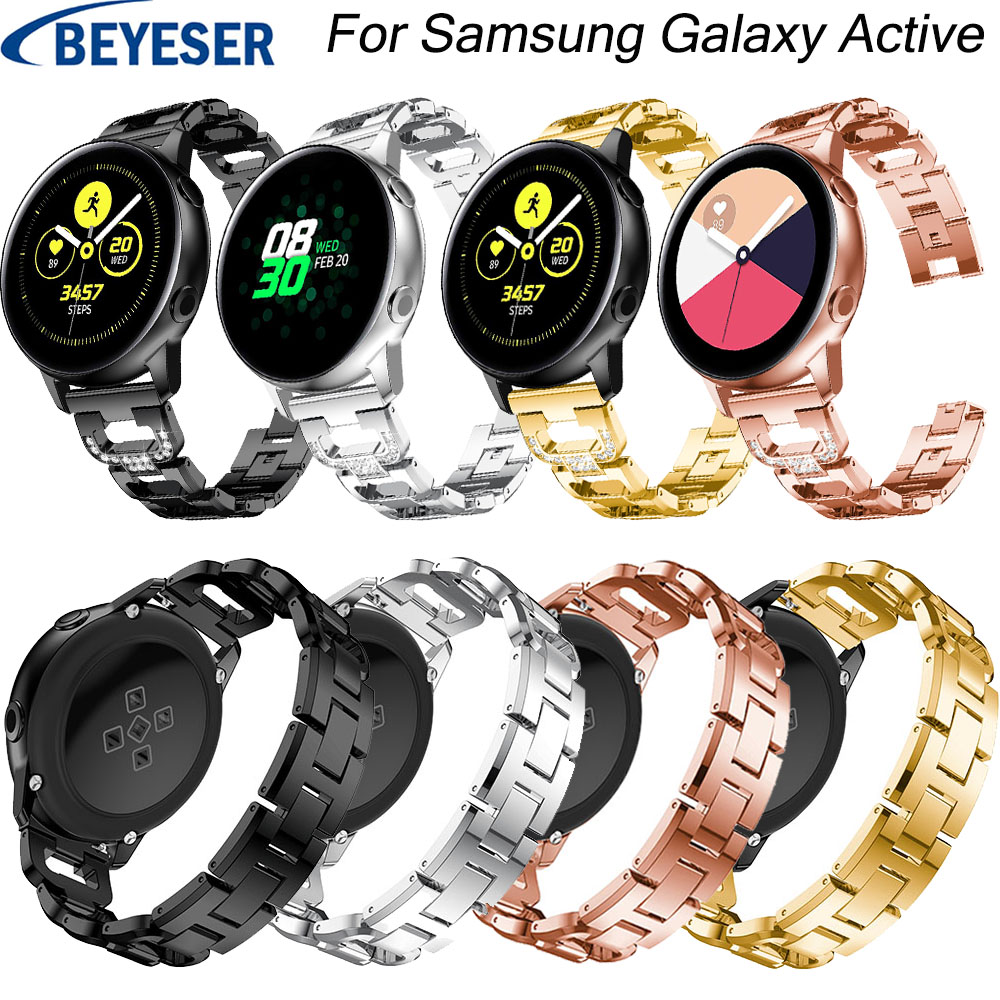 20 mm Watchband For Samsung Galaxy Watch Active Stainless Steel Metal watchstrap Bracelet classic replacement wrist strap belts20 mm Watchband For Samsung Galaxy Watch Active Stainless Steel Metal watchstrap Bracelet classic replacement wrist strap belts