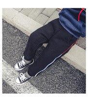 Boys Pants 2018 Winter Autumn Solid Elastic Velvet Pant Boy Casual Cotton Trousers Bottoms Pants for Children Boys