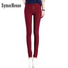 Summer Autumn Elegant Women Pants OL Slim Stretch Buttons Pencil Pants Casual Trousers Leggings Female Bottoms Plus Size S-3XL