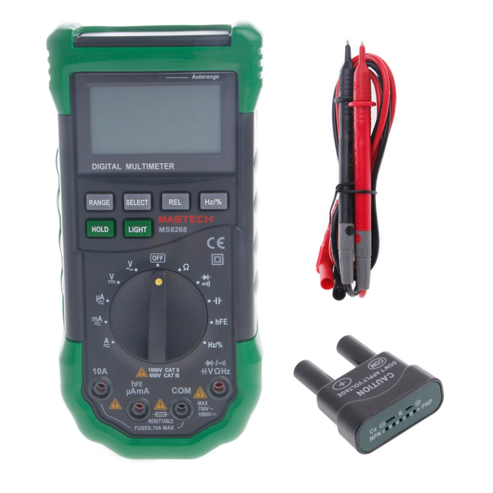 MS8268 Digital Multimeter Auto Range AC/DC A/V Electrical Tester Diode Detector New  цены