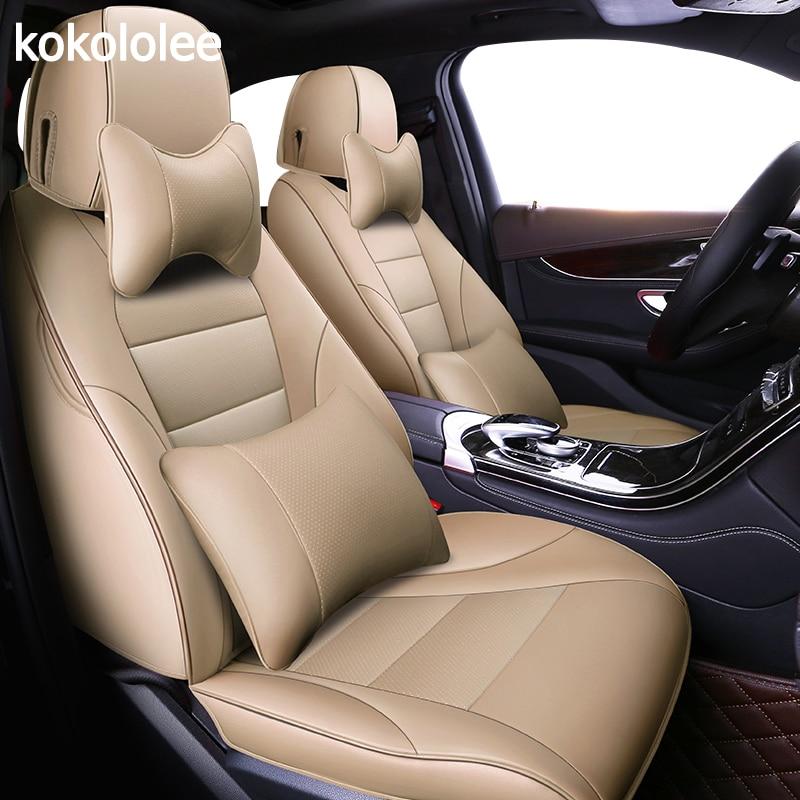 Kokololee personalizzato in vera pelle copertura di sede dell'automobile per peugeot 206cc 207 301 407 508 308 308sw 607 307 307cc 307sw 2008 3008 4008 5008