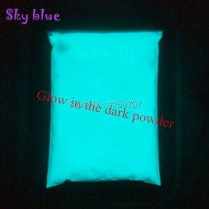 Image 1 - مشرق السماء الزرقاء اللون والأخضر اللون مسحوق الفوسفور يتوهج في الظلام مسحوق الصباغ مضيئة طلاء الغبار photoluminlette