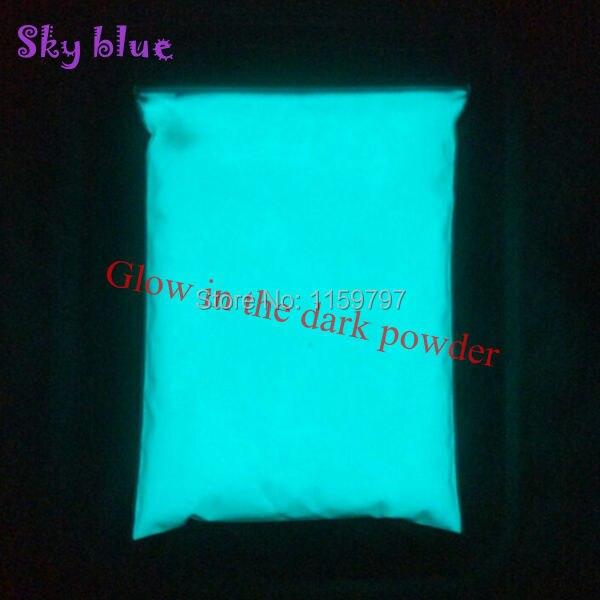 مشرق السماء الزرقاء اللون والأخضر اللون مسحوق الفوسفور يتوهج في الظلام مسحوق الصباغ مضيئة طلاء الغبار photoluminlette