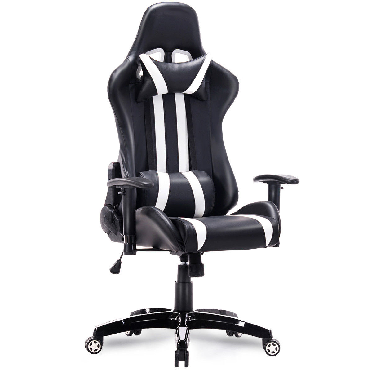 reclining gaming chair small sofa giantex racing high back swivel