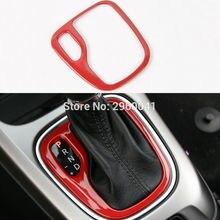 Rojo ABS Panel Interior Del Coche Palanca de cambios Palanca de cambios Cubiertas Panel Marco de Corte Se Ajusta Para Jeep Compass 2017 +