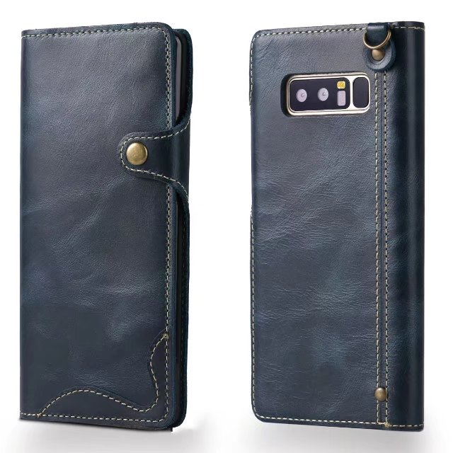 Luxury Genuine Leather Magnet Flip Case For Samsung Galaxy Note 8 Note8 S8 Plus Retro Wallet Style Flip Cover Original Case