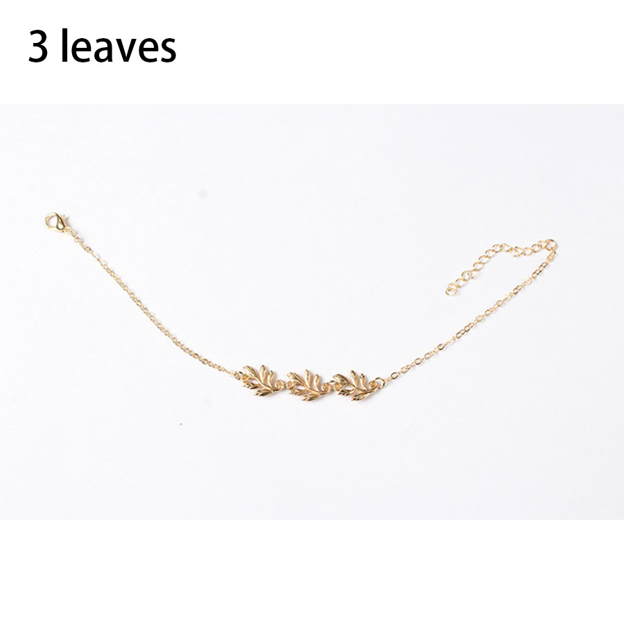 2017 new arrivals charm foot jewelry Simple chains of gold metal ...