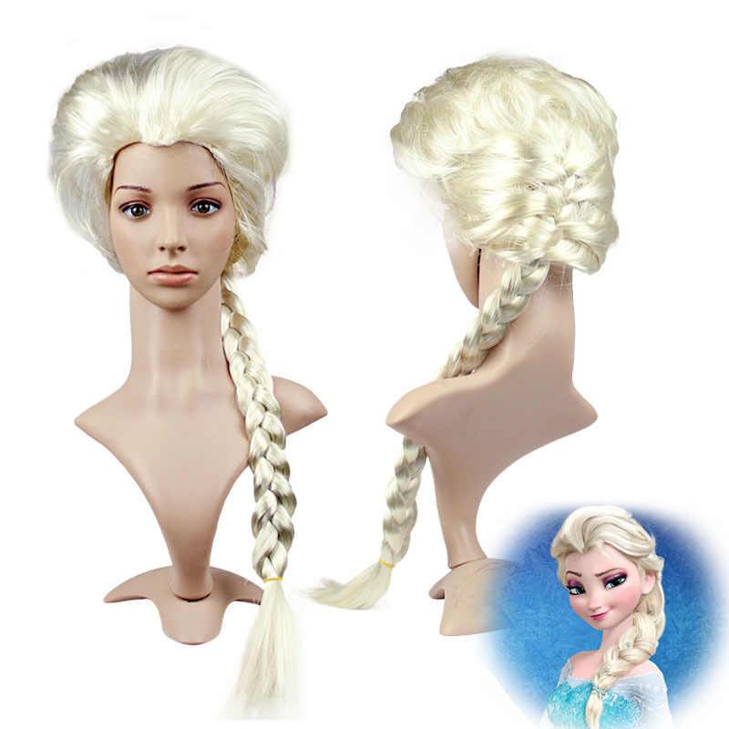 Мультяшная коса для девочек, парик, шляпа, вечернее платье для выпускного вечера, реквизит