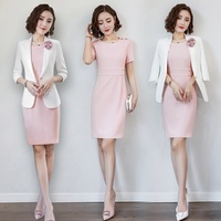 Ol Interview Suits Women Formal Dress Korean Women Business Suit Robe Blazer Spa Ladies Uniform For Office Work Wear DD2055