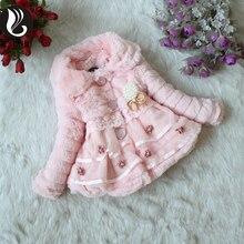 AINIAINI Solid Color Girls Full Woolen Coat Fashion Turn-Down Collar Pearl Pendant Long Coat 2 Color AB826