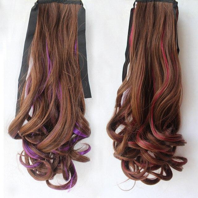 Rainbow Princess Wave Hair Bulk Ribbon Lace Closure Ponytail
