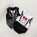 Рождество Baby boy/девушки Младенческой Новорожденный Одежда Устанавливает Джентльмен Ползунки и Jumpersuit Рождество Bebe День Рождения Костюмы