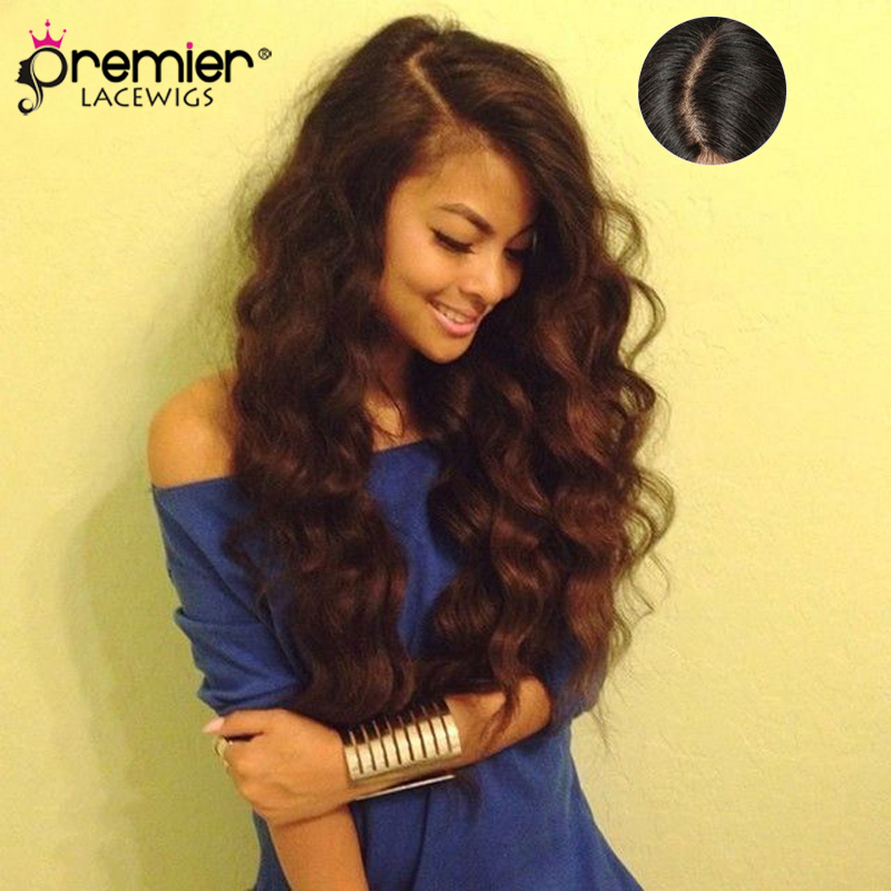 PREMIER LACE WIGS 4.5 Super Deep C Side Part Lace Front Wigs,Indian Remy Hair Wavy,Pre-plucked Hairline [DFW11]