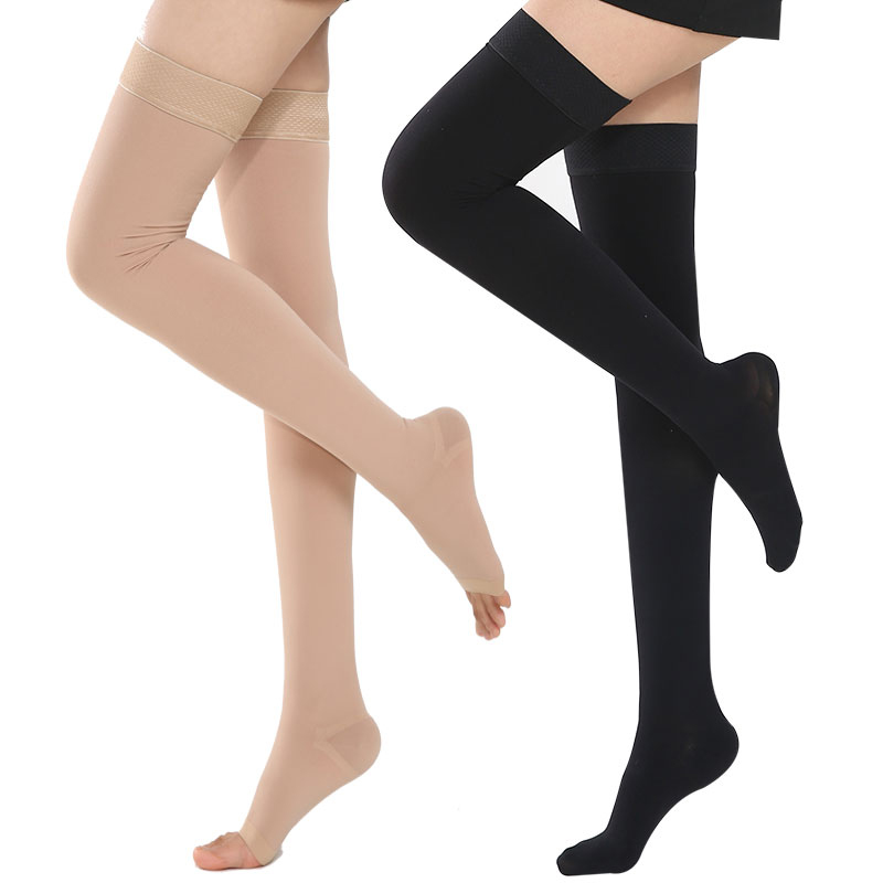 Compression-Socks Long-Stocking Running-Wear Varicose Medical 2-Pressure Women Thigh