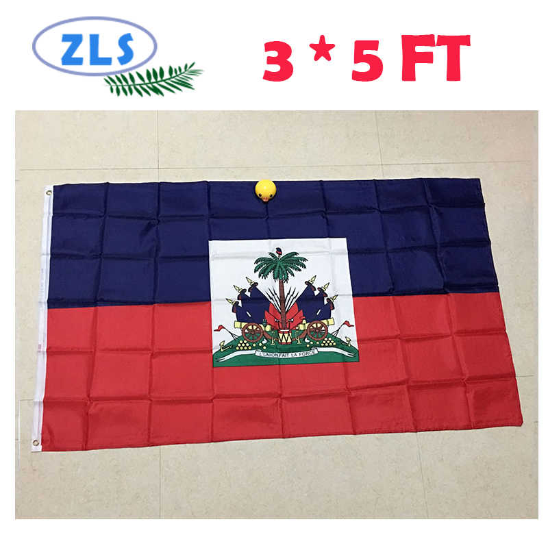 2018 sell Haiti Flag  3*5 FT 150*90 CM Polyester Flag High Quality and Cheap Price Filming in real life