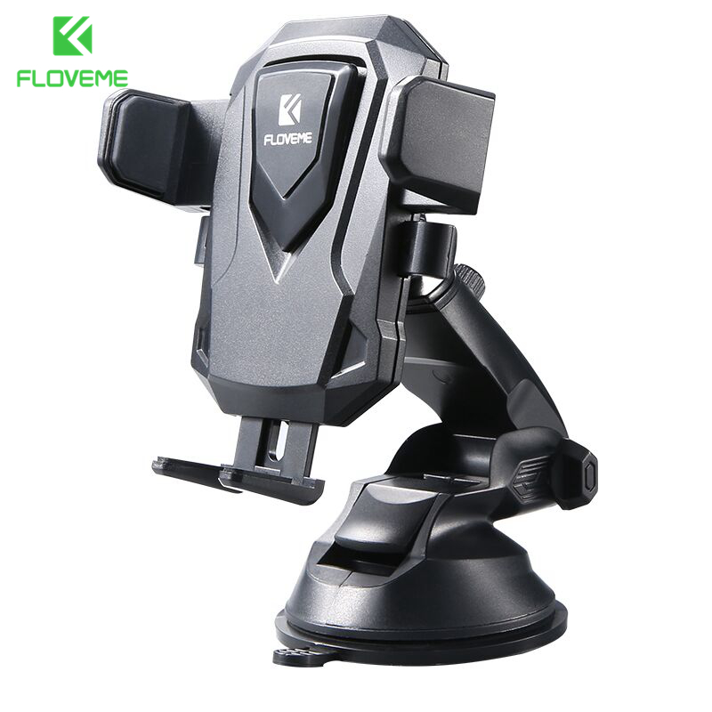 FLOVEME Universal Car Phone Holder 360 Rotatation Sucker Car Holder For iPhone For Samsung Xiaomi Huawei Car Phone Stand Holder