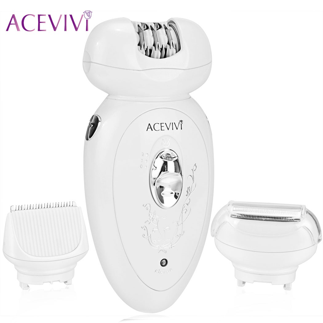 ACEVIVI 3 in 1 Rechargeable Lady Hair Epilator Shaver For Facial Body Face Underarm Depilatory Leg Hair Razor Trimmer Machine 3w rechargeable lady s body hair electric shaver ac 220 240v
