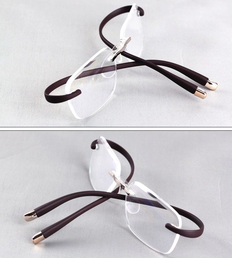 43a1cd8a1e Agstum TR90 Rimless Flexible Eyeglasses Anti radiation Reading glasses  Reader +1 +2 +3-in Eyewear Frames from Apparel Accessories on  Aliexpress.com ...