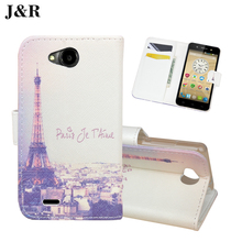 Filp Leather Cover For ZTE Blade GF3 4.5 inch Wallet Stand Cover For ZTE Blade GF3 GF 3 Cartoon Pattern Case Phone Bags & Cases
