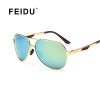 FEIDU Men's Polarized Pilot Sunglasses Fashion Alloy Frame Brand Sun glasses Men Driving Sport  UV400 Oculos De Sol With Box