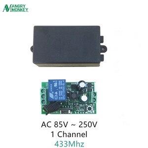433 МГц Универсальный беспроводной переключатель дистанционного управления AC 85V ~ 250V 110V 220V 1CH релейный модуль приемника