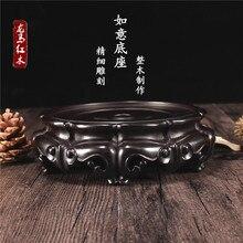 Teapot base pot rack wenge wood pad kung fu tea