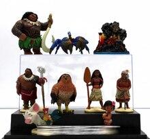 10pcs/set Moana Princess Maui Chief Tui Tala Heihei Pua Villager Tamatoa Dolls PVC Action Figure Toys Brinquedos 7-10cm 5%