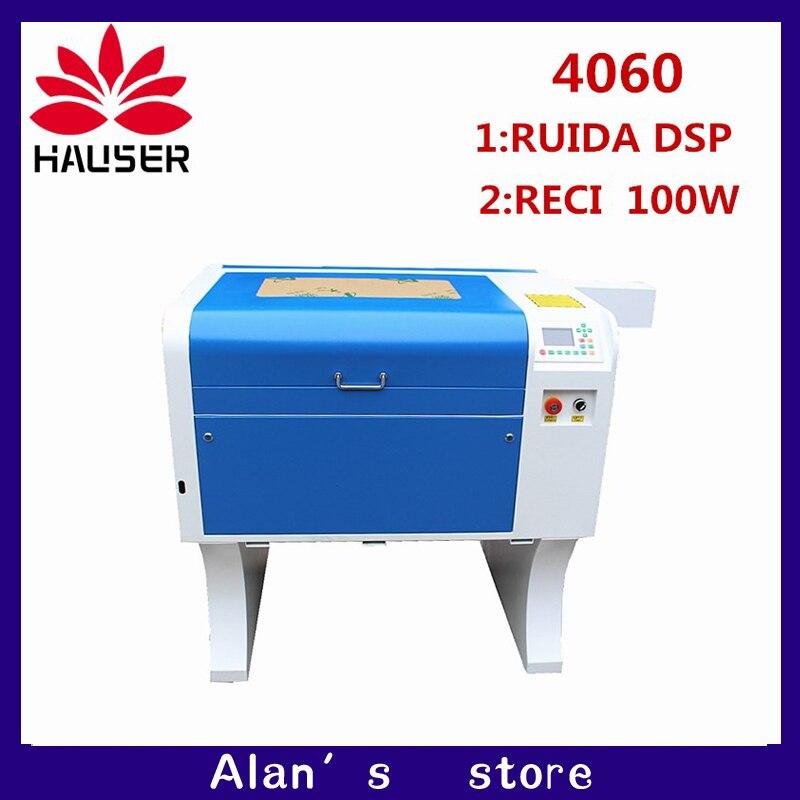 CNC laser de co2 RECI 100 4060 cortador de gravação a laser máquina de marcação laser mini gravador cnc router cabeça do laser diy