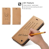 DIY Leather Flip Wallet Case For Apple IPhone 6 6s Plus Detachable Phone Cover With Card