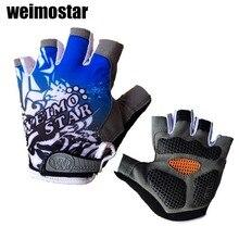 2016 guantes de ciclo del gel hombre mujeres medio dedo guantes ciclismo bicicleta guantes luvas para ciclismo