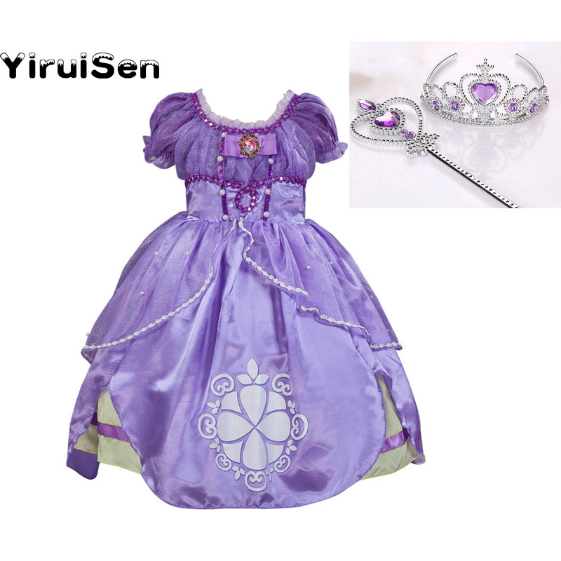 2017 Next Girl Summer Dress 10 Years Princess Sofia Costume Girl Fine Dress Kids Cosplay Costumes Party Dress Children Clothes rendell ruth the girl next door