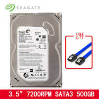 """Seagate 500 GB HDD 3.5 """"SATA ordinateur de bureau interne disque dur mécanique HD 6 Gb/s 7200 RPM 8 MB/32 MB tampon pour bureau livraison gratuite"""