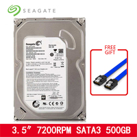 Seagate 500GB HDD 3.5 SATA Desktop PC Internal Mechanical Hard disk HD 6Gb/s 7200RPM 8MB/32MB Buffer For Desktop free shipping