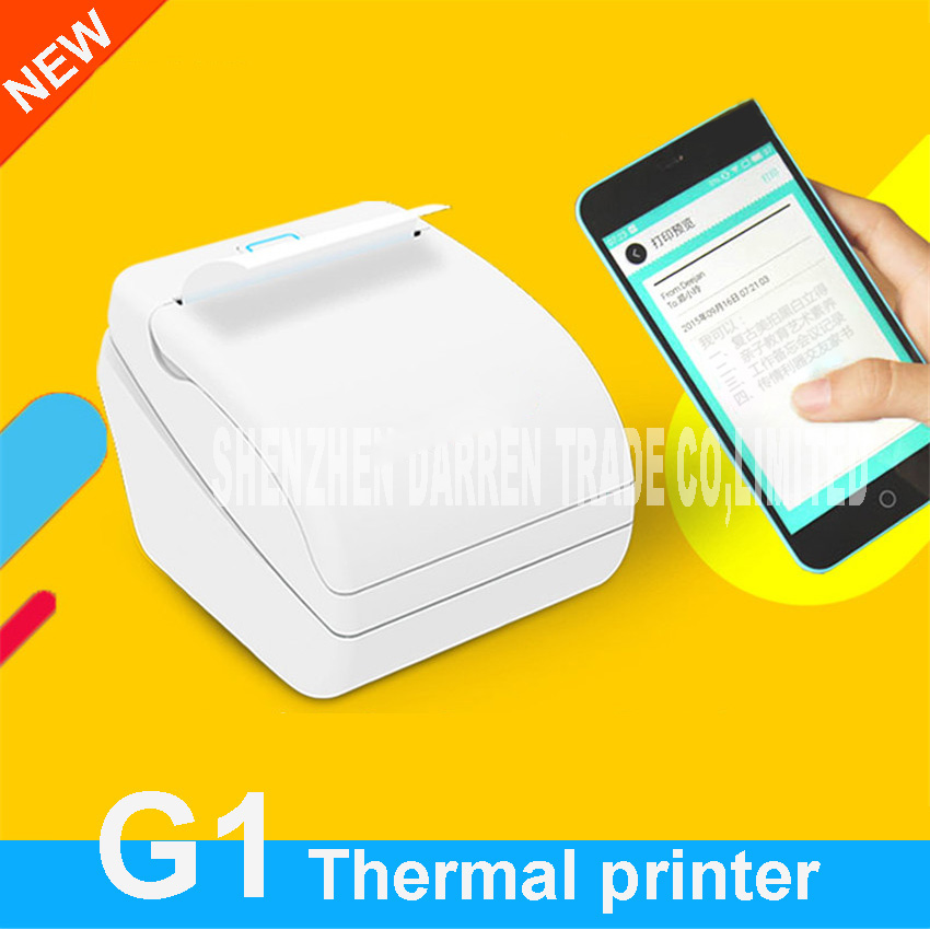 New Mini Mobile App Printing Small Ticket Printer G1 Wireless Network Printing Mobile Phone Photo Bill Printing Thermal Printer chris ziegler t mobile g1 for dummies