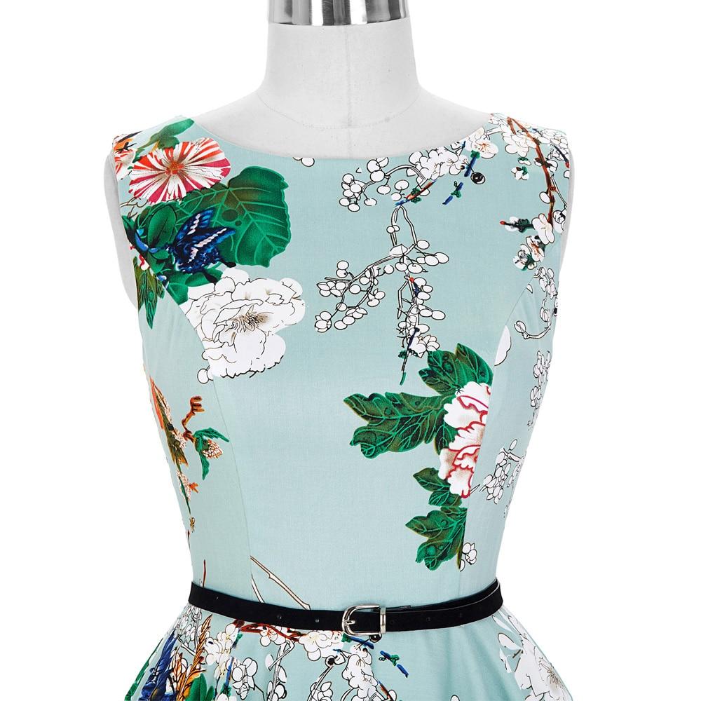 Elegant Women Dresses 2017 Floral 50s 60s Retro Vintage Dress ...