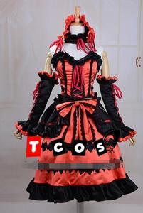 Image 2 - Nuevo Popular porque Sonico Kurumi Anime Cosplay Fecha en directo Cosplay Halloween conjunto completo 4in1 (Vestidos + Headwear + cuello adornos + Arco kn