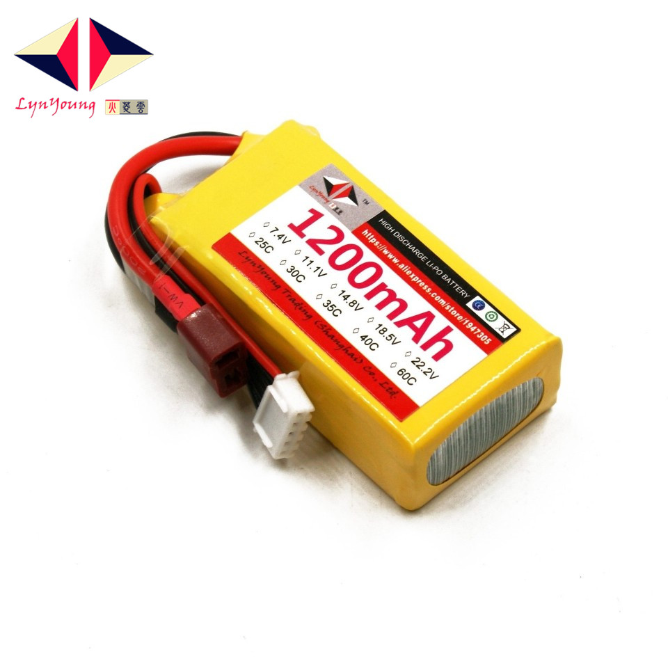 1200mAh 14.8V 4S 30C Rechargeable LYNYOUNG Lipo battery for RC Racing Car Bike Truck Airplane helicopter Drones