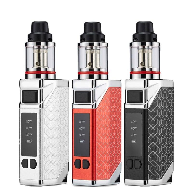 E-zigarette 80w box mod vape kit 2200mah batterie 0.35ohm 2,8 ml tank Große rauch einstellbar Aufzuhören rauchen Player pod dampf stift