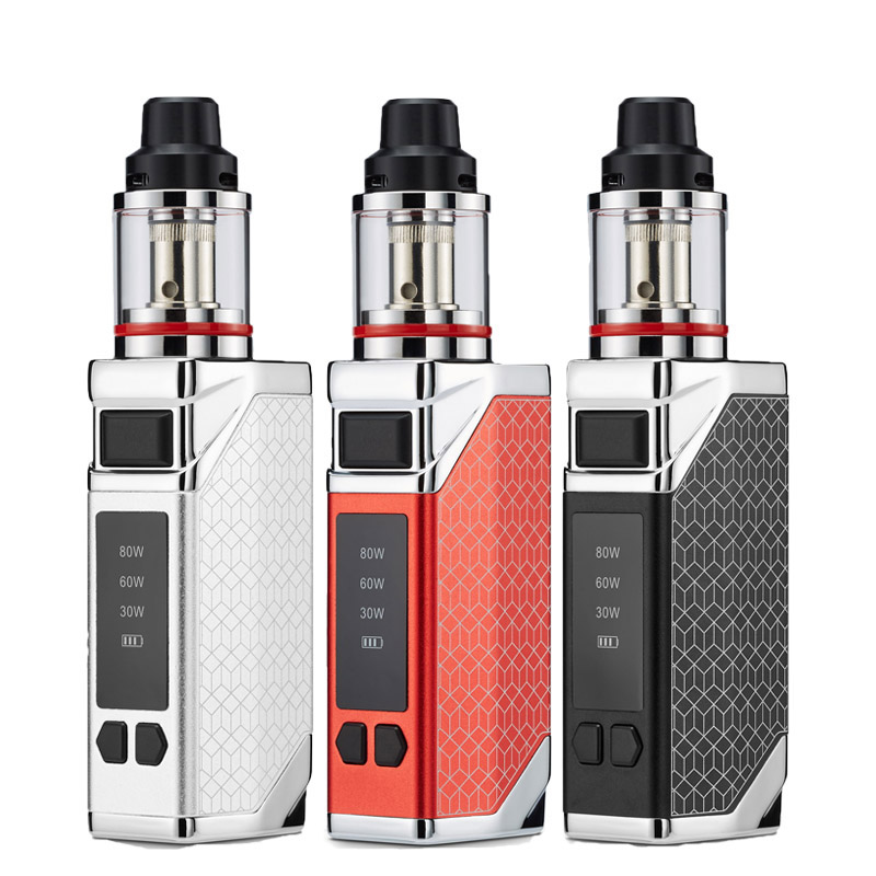 E-cigarette 80w Box Mod Vape Kit 2200mah Battery 0.35ohm 2.8ml Tank Large Smoke Adjustable Quit Smoking Player Pod Vapor Pen