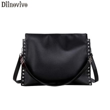 DIINOVIVO Hollow Out Design Crossbody Bags For Women 2019 News Ladies Hand Bags Simple Woman Shoulder Bags And Handbags WHDV1168