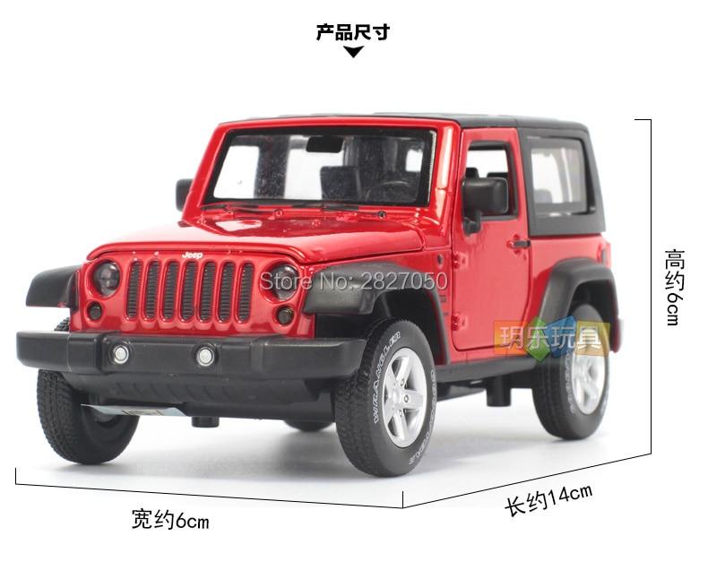 1:32 jeep wrangler rubicon veículo modelo carros