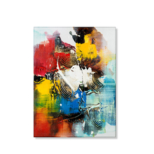 Abstract Oil Painting Art Hand Painted Canvas Drawing By painter Unique Gift On Wall