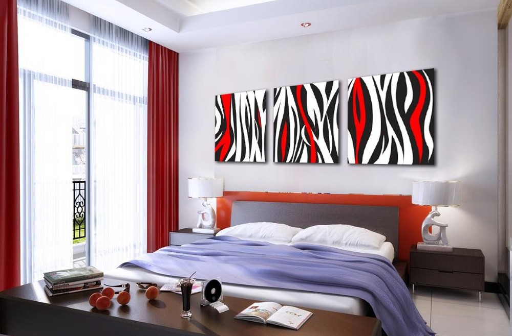 Popular 3 Piece Canvas Wall Art Large Black and WhiteBuy Cheap 3
