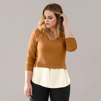 2017 Autumn Women Tops Plus Size Women Blouse Shirt Patchwork Female Shirt 5XL 6XL Big Size